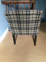 Smart Mahogany Armchair Upholstered in Black / Grey Tartan (3 of 3)
