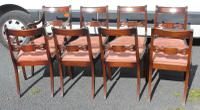 1960s Set of 8 Mahogany Bar Back Dining Chairs with Pop-out Seats 6+2 Carvers (3 of 3)