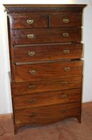 Large Handsome Georgian Mahogany Chest on Chest c.1830 (3 of 5)