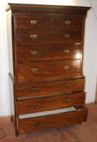 Large Handsome Georgian Mahogany Chest on Chest c.1830 (4 of 5)