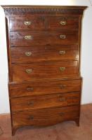 Large Handsome Georgian Mahogany Chest on Chest c.1830 (2 of 5)