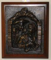 Pair of 19th Century French School Bronze Plaques