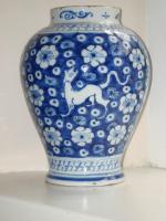 Pair of 18th Century Delft Vases