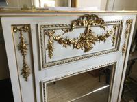French 19th Century Mirror in a Grey & Gilt Frame (2 of 2)