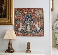 Beautiful Petite Vintage Mille-Fleurs Tapestry, La Dame À La Licorne