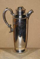 Military Silver Plate Flask Presented To Major & Mrs D E Burchett From Rcsa 1957