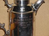 Military Silver Plate Flask Presented To Major & Mrs D E Burchett From Rcsa 1957 (13 of 13)