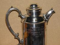 Military Silver Plate Flask Presented To Major & Mrs D E Burchett From Rcsa 1957 (12 of 13)