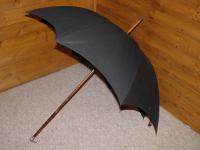 Antique Hallmarked 1903 Silver Eagle Bird's Head Handle Black Canopy Umbrella (3 of 17)