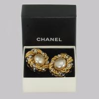 Vintage Chanel Faux Pearl & Crystal Earrings Clip on 1980s with Box Collection 23 (2 of 7)