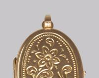 Vintage 9ct Yellow Gold Floral Patterned Locket Oval Engraved Hallmarked 1973 (5 of 7)