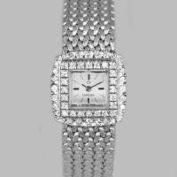 Omega Diamond Bracelet Watch Ladies Vintage 9ct Gold 1970'S Watch 1.20 Carat Diamonddiamond