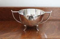 Arts & Crafts / Art Nouveau Double Handled Silver-Plated Sugar Bowl (Lee & Wigfull, Silversmiths, Sheffield, C.1906)