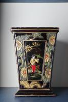Art Deco Era 1920s Chinoiserie Jardiniere / Planter, Chrysanthemum Motif, Ebonised Carved Wood & Painted Gilt Decoration 'Chinese Ebonised' (3 of 25)