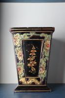 Art Deco Era 1920s Chinoiserie Jardiniere / Planter, Chrysanthemum Motif, Ebonised Carved Wood & Painted Gilt Decoration 'Chinese Ebonised' (4 of 25)