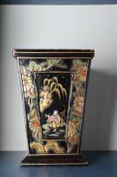Art Deco Era 1920s Chinoiserie Jardiniere / Planter, Chrysanthemum Motif, Ebonised Carved Wood & Painted Gilt Decoration 'Chinese Ebonised' (5 of 25)