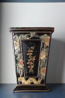 Art Deco Era 1920s Chinoiserie Jardiniere / Planter, Chrysanthemum Motif, Ebonised Carved Wood & Painted Gilt Decoration 'Chinese Ebonised' (6 of 25)