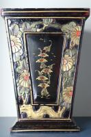Art Deco Era 1920s Chinoiserie Jardiniere / Planter, Chrysanthemum Motif, Ebonised Carved Wood & Painted Gilt Decoration 'Chinese Ebonised' (7 of 25)