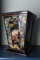 Art Deco Era 1920s Chinoiserie Jardiniere / Planter, Chrysanthemum Motif, Ebonised Carved Wood & Painted Gilt Decoration 'Chinese Ebonised' (2 of 25)