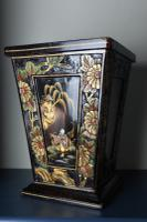 Art Deco Era 1920s Chinoiserie Jardiniere / Planter, Chrysanthemum Motif, Ebonised Carved Wood & Painted Gilt Decoration 'Chinese Ebonised' (10 of 25)