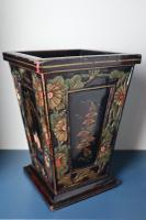 Art Deco Era 1920s Chinoiserie Jardiniere / Planter, Chrysanthemum Motif, Ebonised Carved Wood & Painted Gilt Decoration 'Chinese Ebonised' (12 of 25)
