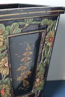 Art Deco Era 1920s Chinoiserie Jardiniere / Planter, Chrysanthemum Motif, Ebonised Carved Wood & Painted Gilt Decoration 'Chinese Ebonised' (13 of 25)