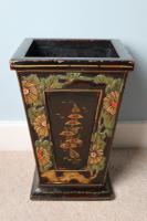 Art Deco Era 1920s Chinoiserie Jardiniere / Planter, Chrysanthemum Motif, Ebonised Carved Wood & Painted Gilt Decoration 'Chinese Ebonised' (17 of 25)