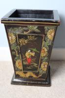Art Deco Era 1920s Chinoiserie Jardiniere / Planter, Chrysanthemum Motif, Ebonised Carved Wood & Painted Gilt Decoration 'Chinese Ebonised' (22 of 25)
