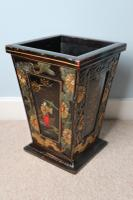 Art Deco Era 1920s Chinoiserie Jardiniere / Planter, Chrysanthemum Motif, Ebonised Carved Wood & Painted Gilt Decoration 'Chinese Ebonised' (23 of 25)