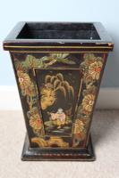 Art Deco Era 1920s Chinoiserie Jardiniere / Planter, Chrysanthemum Motif, Ebonised Carved Wood & Painted Gilt Decoration 'Chinese Ebonised' (25 of 25)