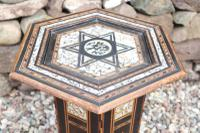 Pair of Ottoman Occasional Tables, Octagonal, Ebonised, Inlay & Mother of Pearl c.1900 (28 of 33)