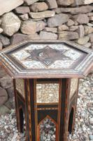 Pair of Ottoman Occasional Tables, Octagonal, Ebonised, Inlay & Mother of Pearl c.1900 (15 of 33)