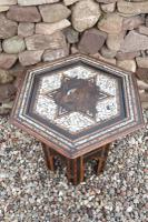Pair of Ottoman Occasional Tables, Octagonal, Ebonised, Inlay & Mother of Pearl c.1900 (14 of 33)