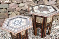 Pair of Ottoman Occasional Tables, Octagonal, Ebonised, Inlay & Mother of Pearl c.1900 (7 of 33)