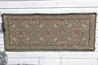 Scandinavian / Swedish 'Folk Art' Skåne Region, Woven Floral & Geometric Pattern Table Runner / Wall Hanging or Coverlet, 1936 (6 of 26)
