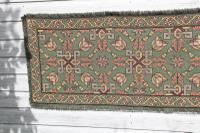 Scandinavian / Swedish 'Folk Art' Skåne Region, Woven Floral & Geometric Pattern Table Runner / Wall Hanging or Coverlet, 1936 (7 of 26)