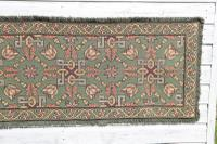 Scandinavian / Swedish 'Folk Art' Skåne Region, Woven Floral & Geometric Pattern Table Runner / Wall Hanging or Coverlet, 1936 (8 of 26)