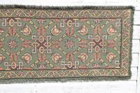 Scandinavian / Swedish 'Folk Art' Skåne Region, Woven Floral & Geometric Pattern Table Runner / Wall Hanging or Coverlet, 1936 (9 of 26)