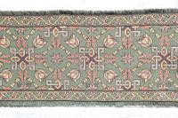 Scandinavian / Swedish 'Folk Art' Skåne Region, Woven Floral & Geometric Pattern Table Runner / Wall Hanging or Coverlet, 1936 (10 of 26)
