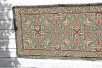 Scandinavian / Swedish 'Folk Art' Skåne Region, Woven Floral & Geometric Pattern Table Runner / Wall Hanging or Coverlet, 1936 (11 of 26)