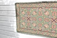 Scandinavian / Swedish 'Folk Art' Skåne Region, Woven Floral & Geometric Pattern Table Runner / Wall Hanging or Coverlet, 1936 (25 of 26)