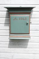 Scandinavian / Swedish  'Folk Art' Painted Pine Hanging Wall Cabinet C.1868. (30 of 30)