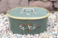 Scandinavian / Swedish 'Folk Art' Wooden Birch 'Sveapask' Storage Boxes, One Floral Painted / Decorated, Both 19th Century (2 of 28)