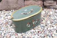 Scandinavian / Swedish 'Folk Art' Wooden Birch 'Sveapask' Storage Boxes, One Floral Painted / Decorated, Both 19th Century (10 of 28)