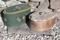Scandinavian / Swedish 'Folk Art' Wooden Birch 'Sveapask' Storage Boxes, One Floral Painted / Decorated, Both 19th Century (14 of 28)