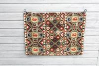 "Scandinavian / Swedish 'Folk Art' Skåne Region, Large Woven Röllakan ""Agedyna"" Cushion Cover, Floral & Geometric Pattern c.1925"