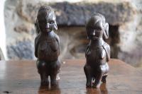 Antique Yoruba People African Tribal Figures