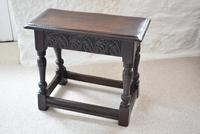 Antique 18th Century Oak Joint Stool (2 of 10)