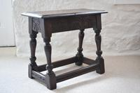 Antique 18th Century Oak Joint Stool (4 of 10)