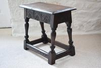 Antique 18th Century Oak Joint Stool (5 of 10)